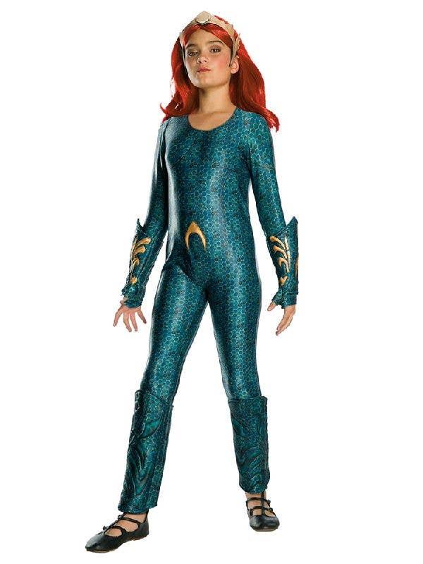 Girl's Mera Aquaman Justice League DC Comics Costume Main Image