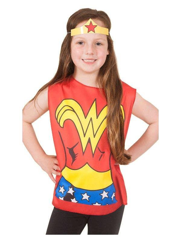 2f71eba089a Wonder Woman Girl's Fancy Dress Costume Set