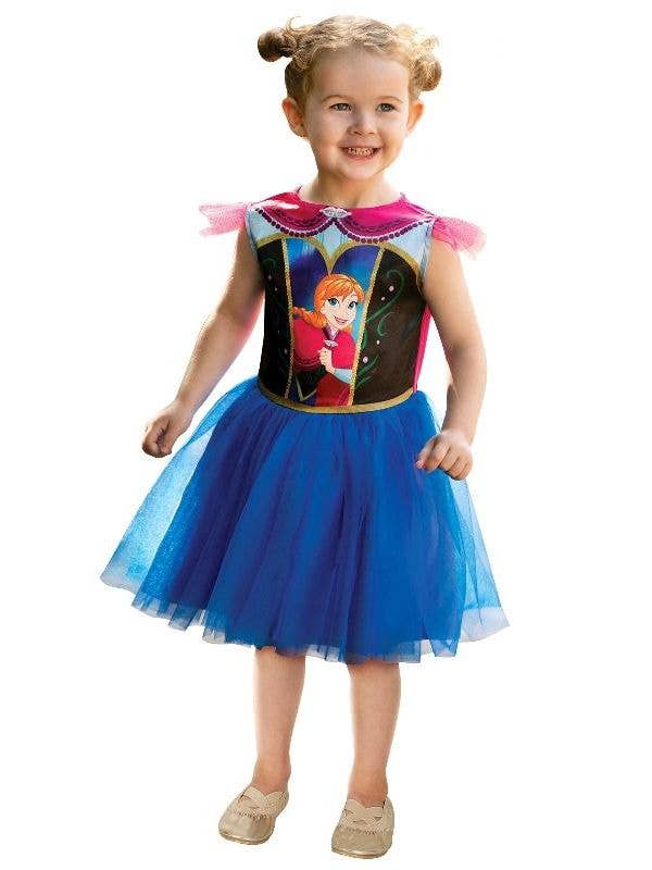 Girls Anna Frozen Toddler Tutu Dress Disney Costume