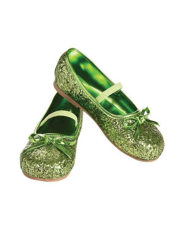 b748703e8d1 Glitter Girls Ballet Flats in Green