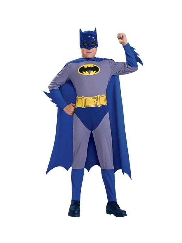 Batman Boy's Classic Superhero Costume Front View