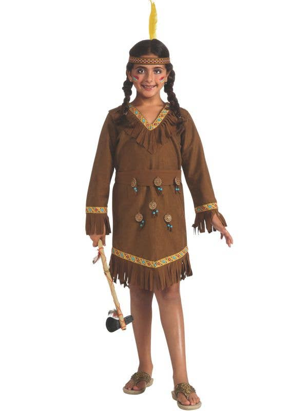 Classic Native Indian Girls Book Week Fancy Dress Costume Main Image