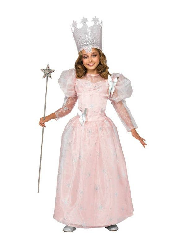 2171b36b62c Girls Glinda the Good Witch Wizard of Oz Fancy Dress Book Week Costume Main  Image