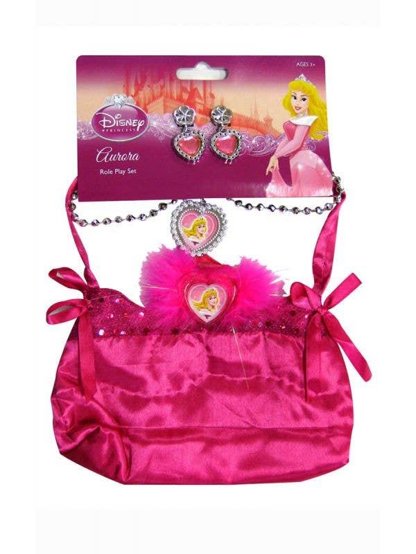 Sleeping beauty girls Disney Princess bag and jewellery costume accessory set