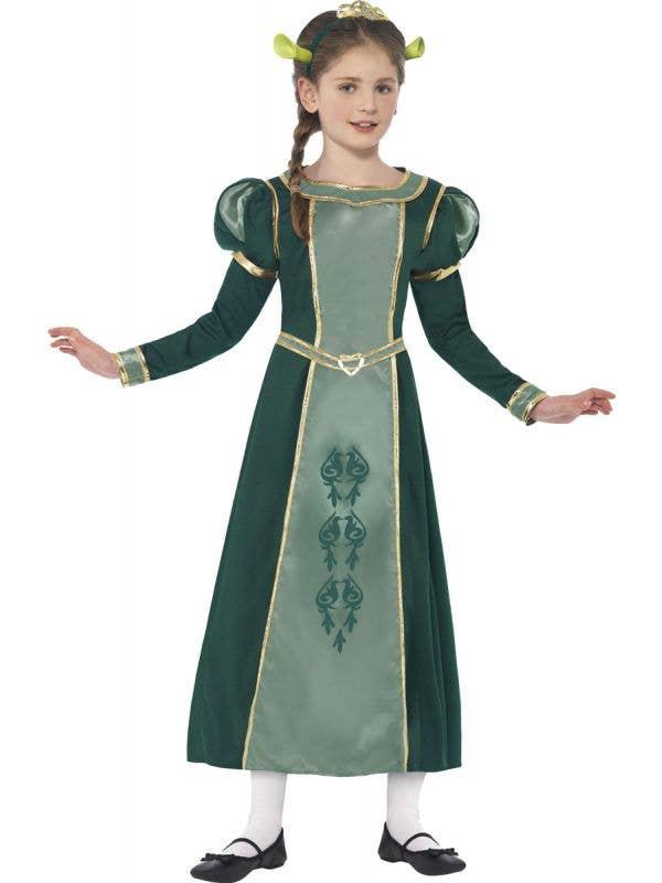 Girls Shrek Themed Princess Fiona Book Week Costume Front