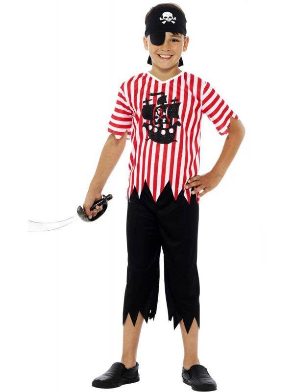 Boys Pirate Fancy Dress Book Week Fancy Dress Costume Front Image