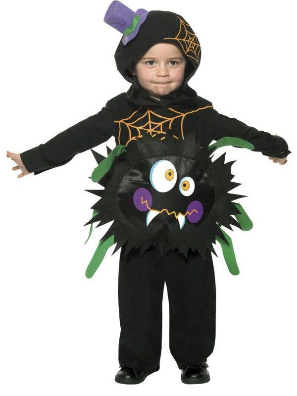 Black Spider Toddleru0027s Halloween Insect Costume Front  sc 1 st  Heaven Costumes & Toddler Boys Crazy Spider Costume | Kids Spider Halloween Costume