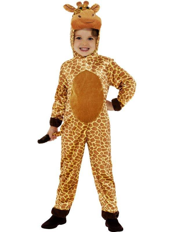Kids Giraffe Animal Onesie Book Week Fancy Dress Costume Front