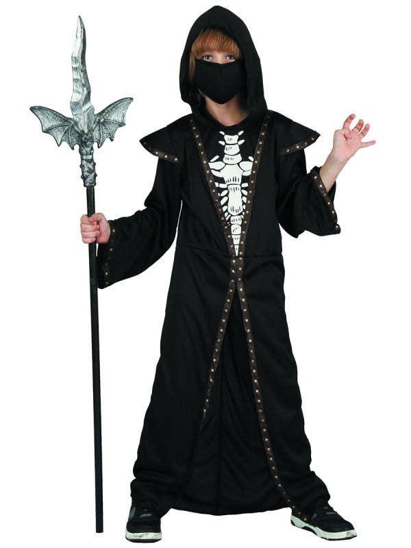 Boy Demonic Skeleton Halloween Costume - Image 1
