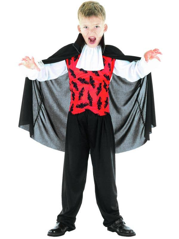 Women's Red and Black Bat Vampire Halloween Fancy Dress Costume