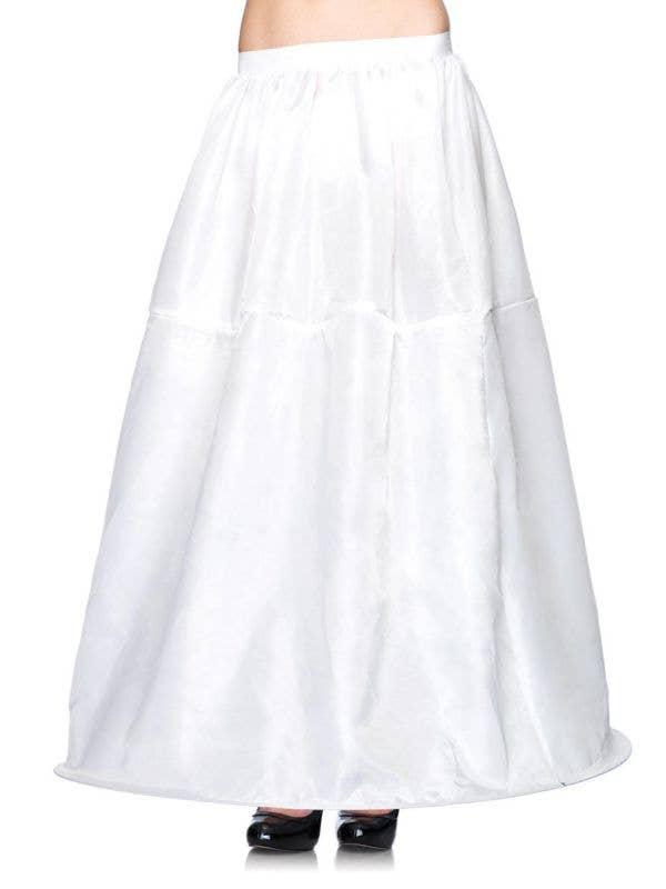 Full Length Women's Hooped White Costume Petticoat