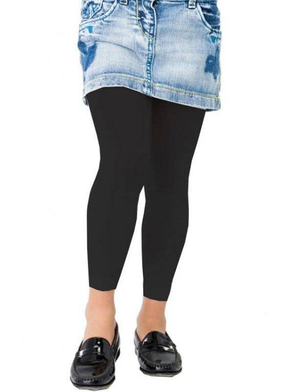 c1064ed885948 Children's Black Footless Tights | Kid's Hosiery | Girls Leggings