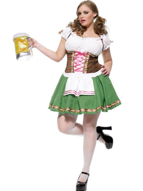 Plus Size Women's Green Beer Girl Costume