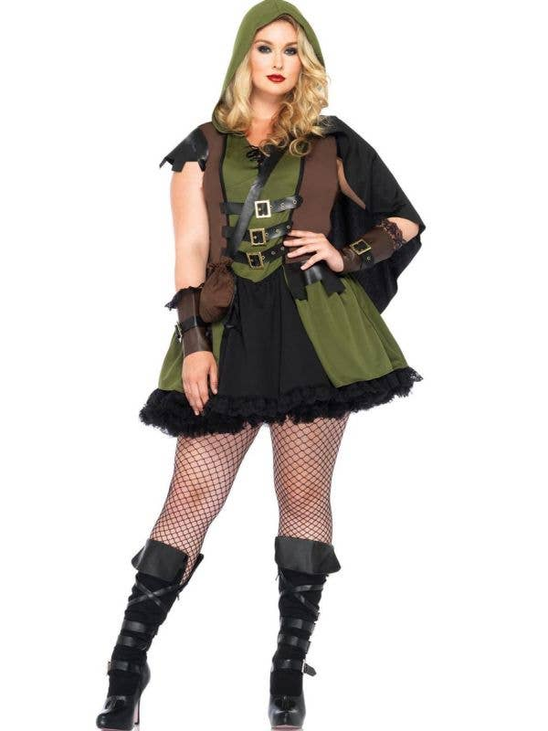 Plus Size Robin Hood Sexy Women's Costume Main View