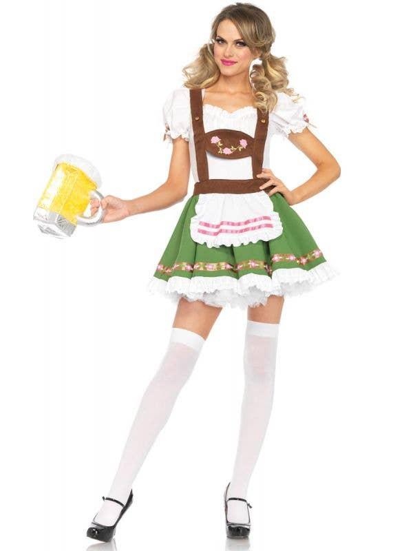 Green German Beer Girl Oktoberfest Costume Main