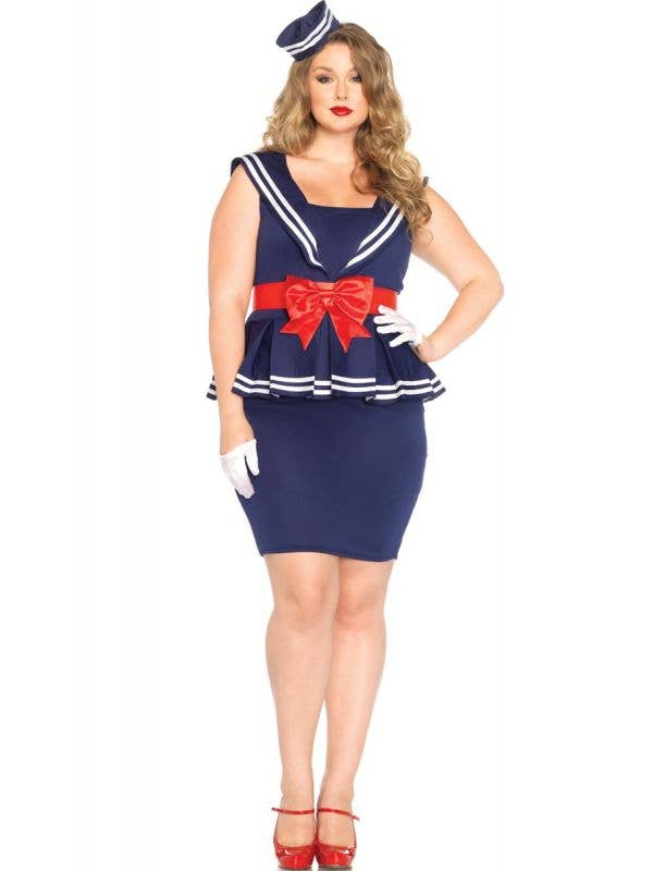 Plus Size 1940's Sailor Women's Costume Main