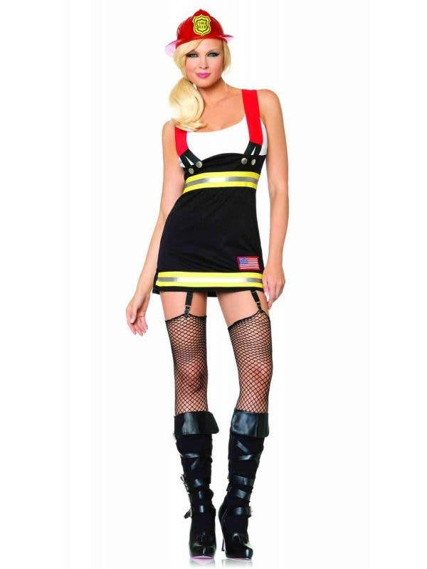 Women's Sexy Backdraft Babe Firefighter Costume Front Image
