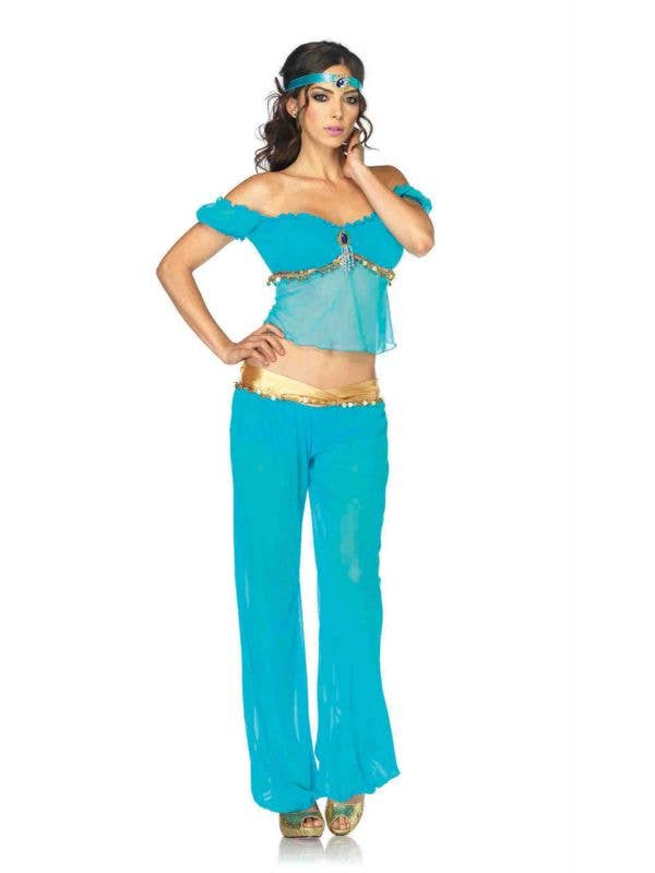 Women's Sexy Princess Jasmine Costume Front View