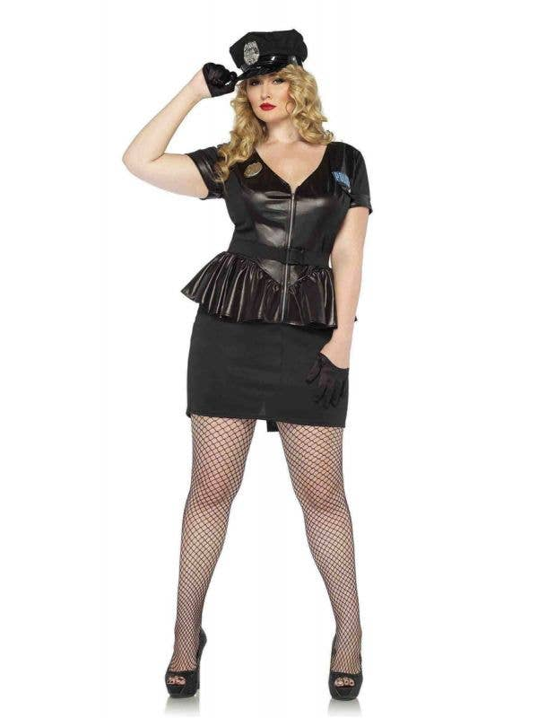 Plus Size Sexy Cop Women's Costume Main Image
