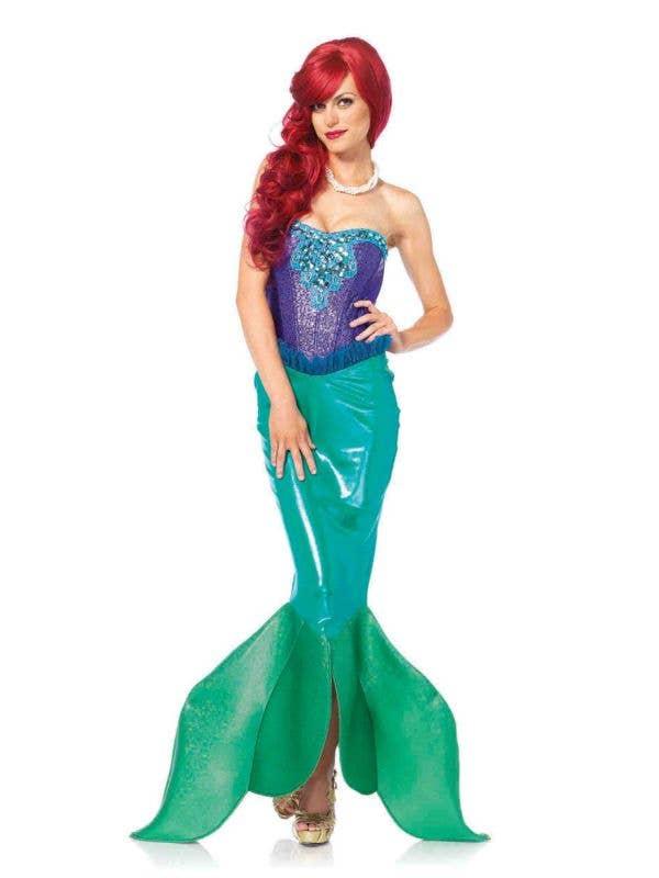 Women's Little Mermaid Sexy Fancy Dress Costume Front View