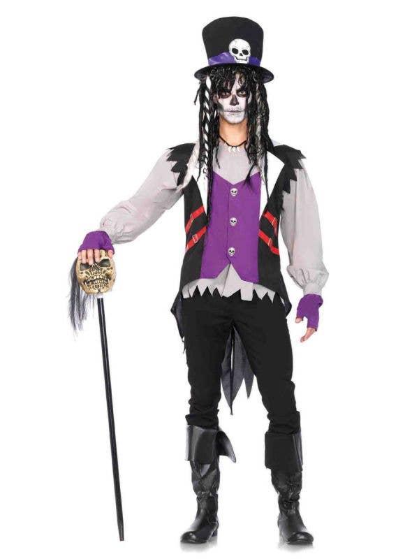 Men's Creepy Voodoo Priest Halloween Costume Main Image