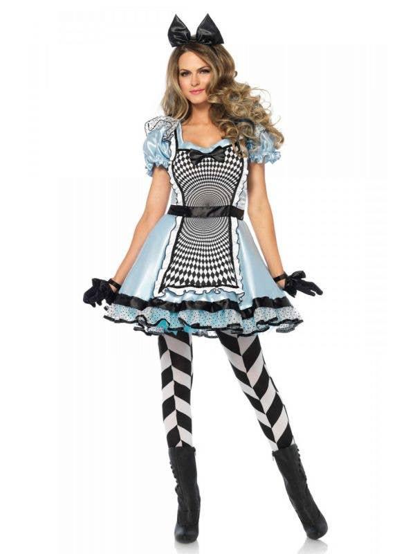Women's Sexy Hypnotic Alice In Wonderland Costume Main Image