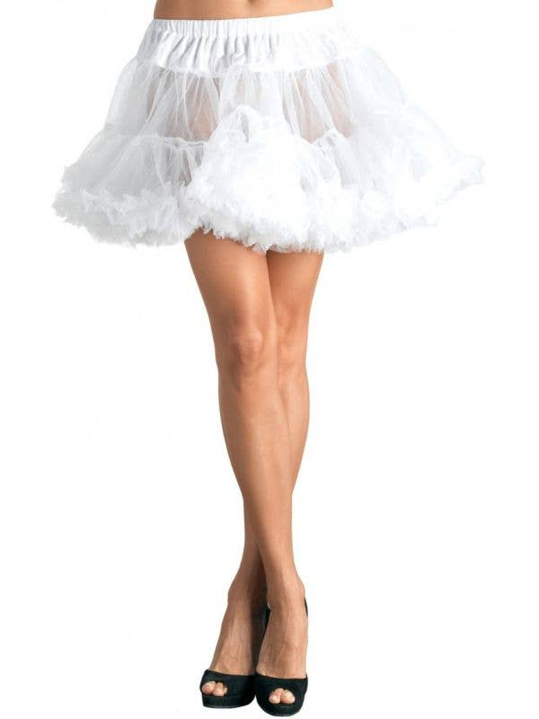 Women's Plus Size White Petticoat Costume Accessory - Main Image