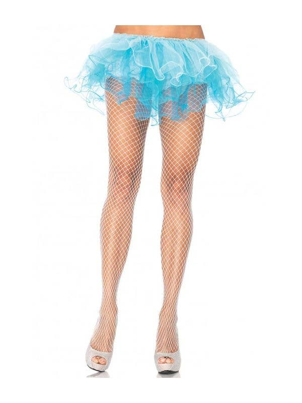 ad0c9952be7 Sexy White Industrial Net Spandex Costume Stockings