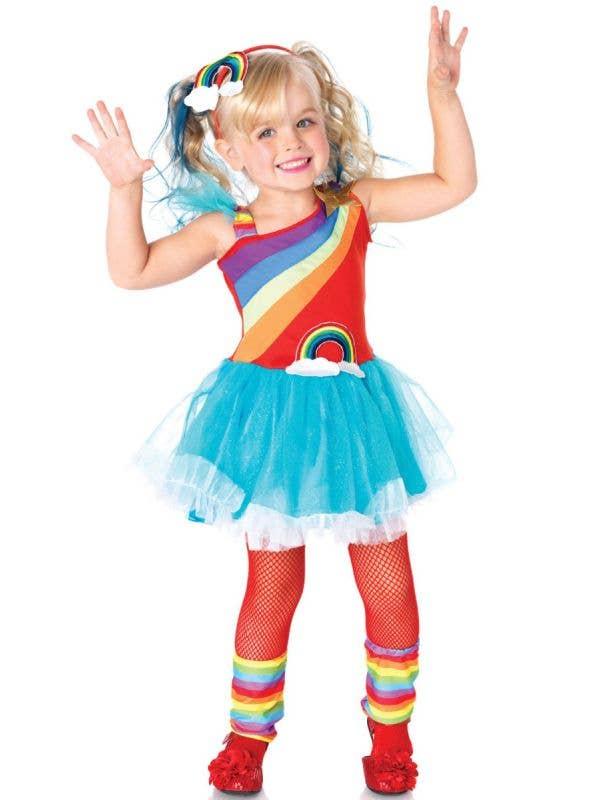 Girls Rainbow Doll Fancy Dress Costume Main Image