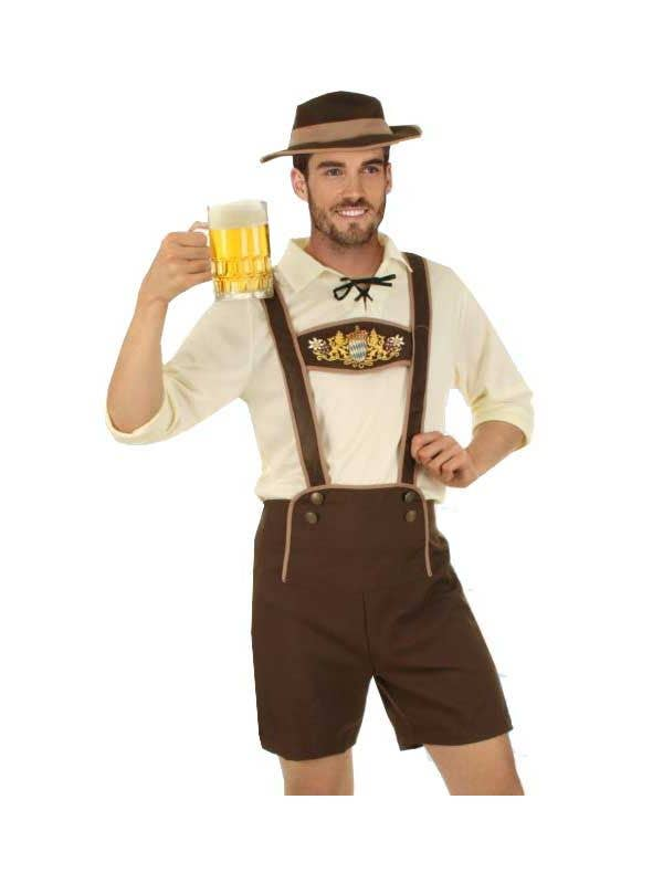 Men s German Lederhosen Beer Guy Costume 7279ab5c3f56
