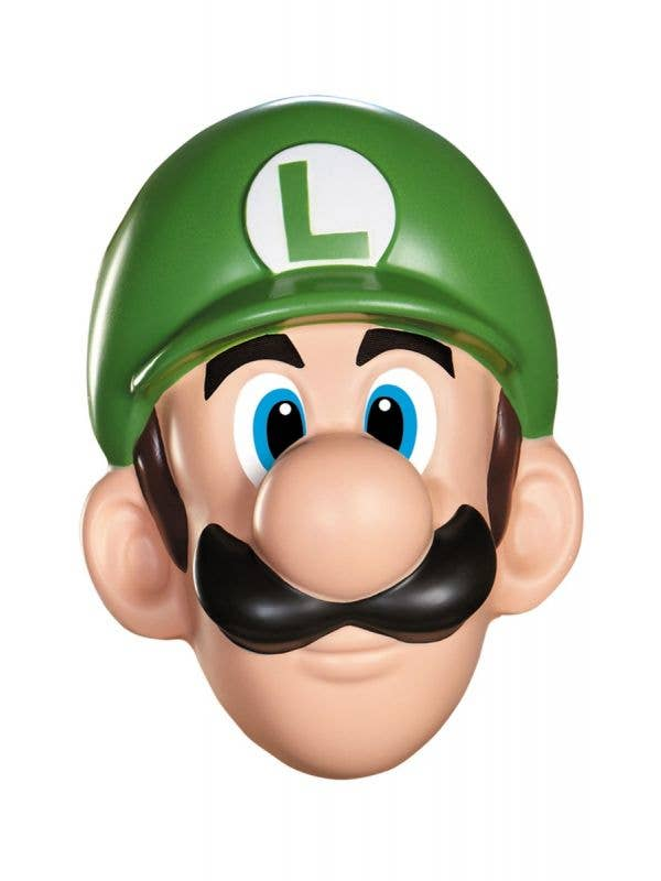 Officially Licensed Adult's Super Mario Luigi Costume Mask Main Image
