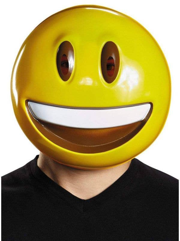 Smiley Emoji Face Adult's Costume Accessory Mask Main Image