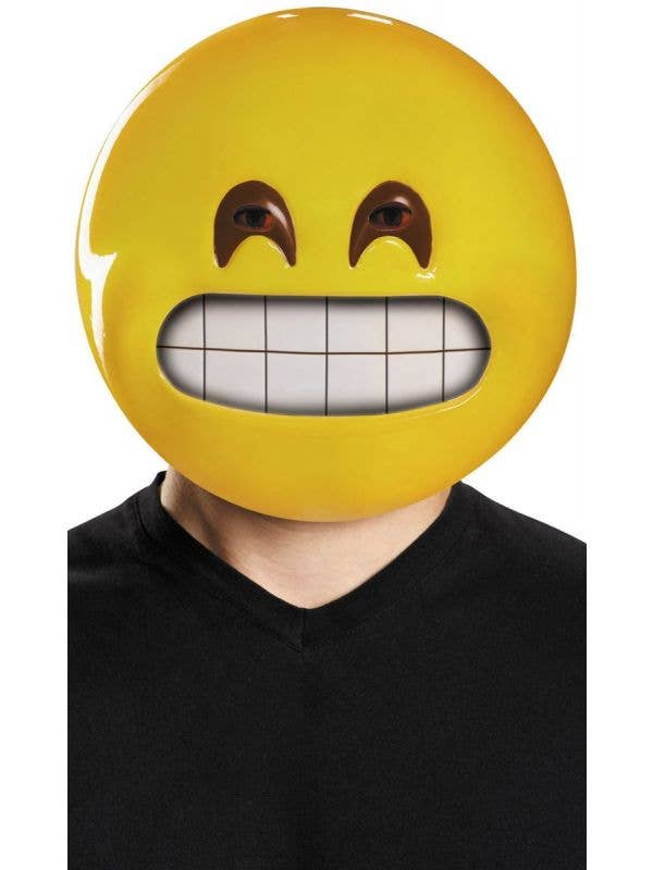 Funny Grinning Emoji Adult's Costume Accessory Mask Main Image