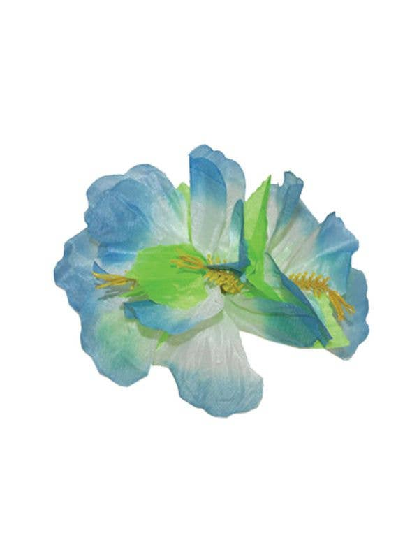 61d79b94f Blue And White Hibiscus Flower Hawaiian Hair Clip Costume Accessory Main  Image