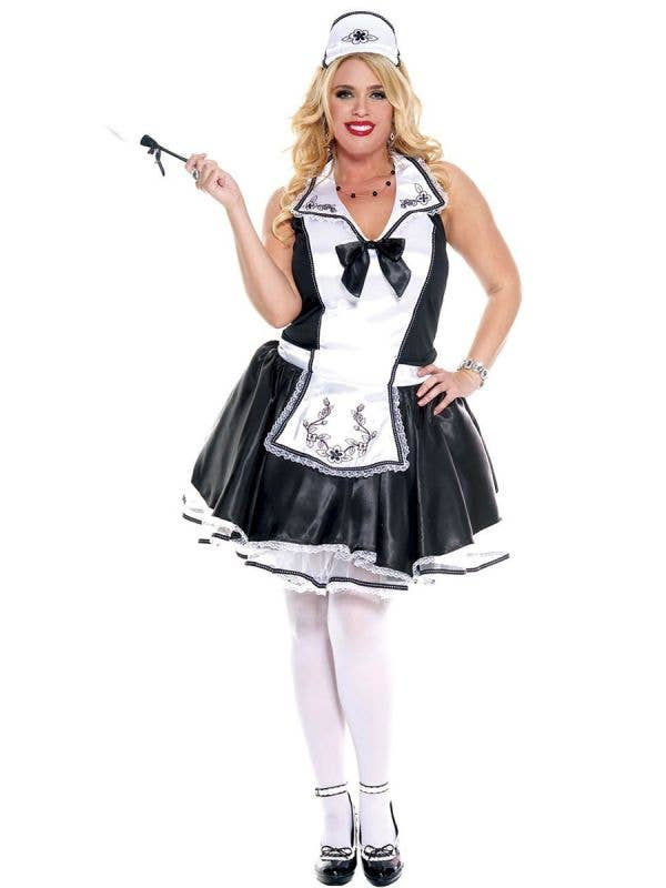 Sexy Plus Size French Maid Costume For Women
