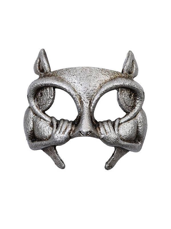 half face gargoyle platinum halloween and masquerade mask