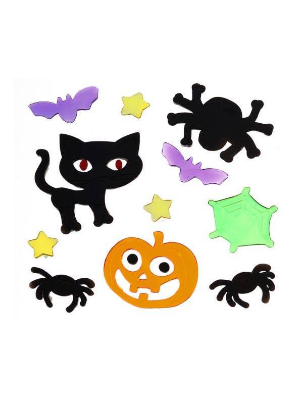 Cute but Creepy Gel Halloween Window Stickers Haunted House Decoration