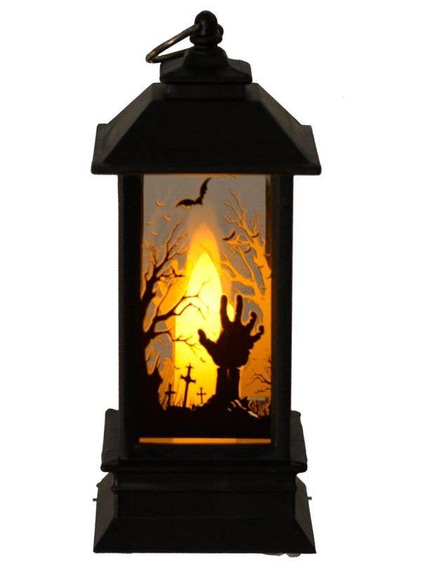 Zombie Graveyard Mini Lanteren Halloween Table Prop - Image One