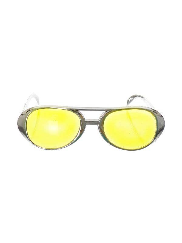 Novelty Silver Framed Aviator Glasses - main image
