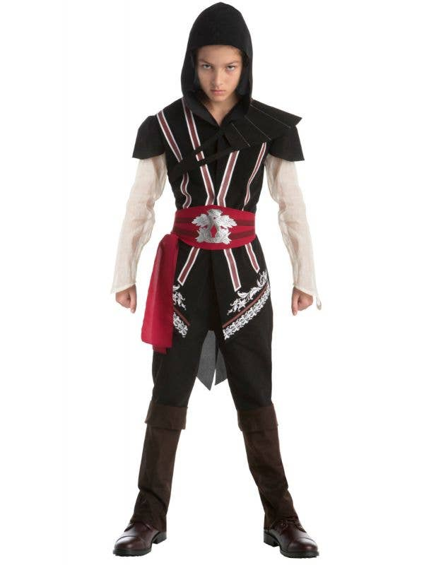 Boys Ezio Auditore Assassin's Creed Teen Fancy Dress Costume Main Image