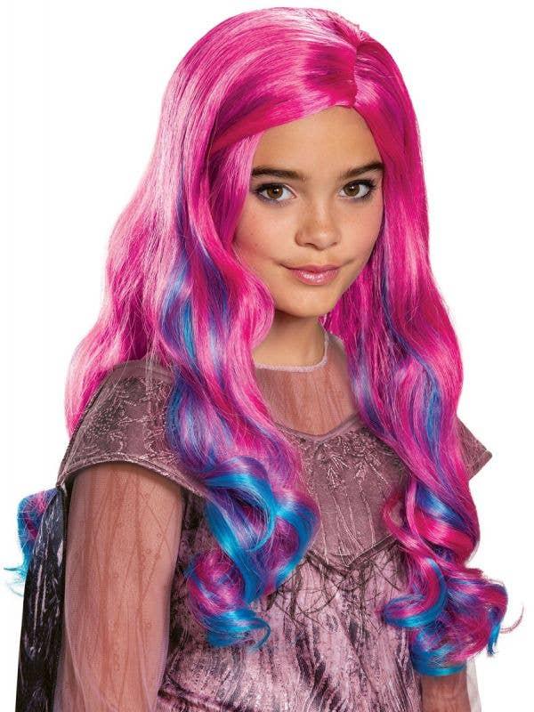 Girls Pink and Blue Descendants 3 Audrey Costume Wig