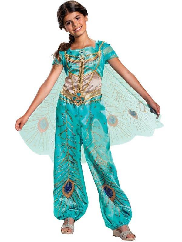 Deluxe Girls Princess Jasmine Dress Up Front Image