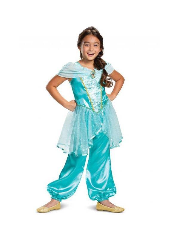 Classic Jasmine Disney Dress Up Costume for Girls Front Image