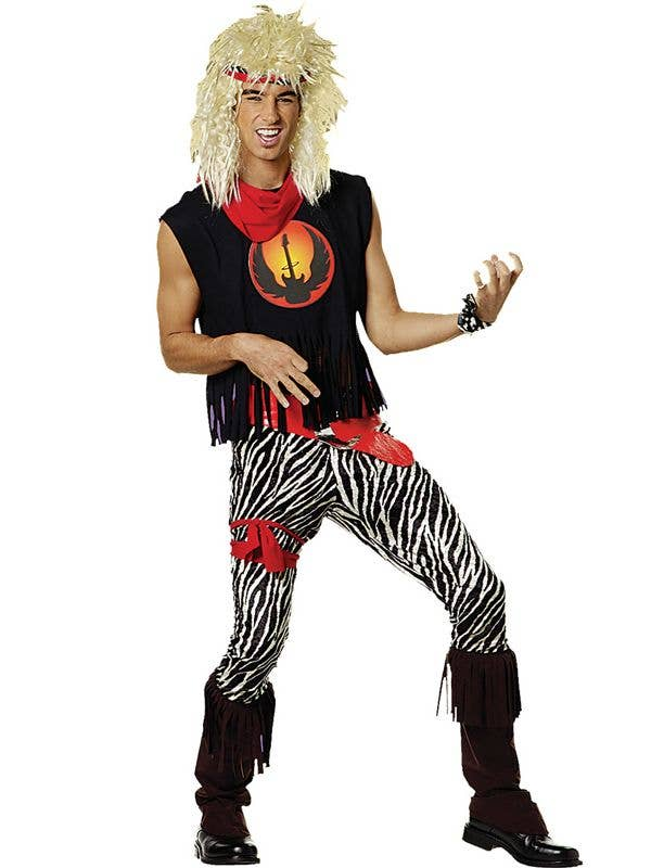Menu0027s 1980u0027s Glam Rock Star Fancy Dress Costume Front  sc 1 st  Heaven Costumes : 80 costumes for men  - Germanpascual.Com