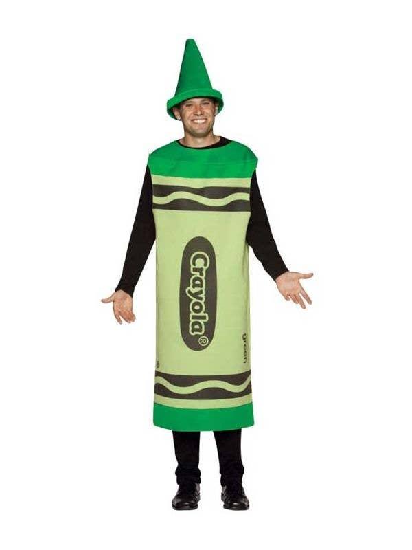Men's Green Crayola Novelty Fancy Dress Costume