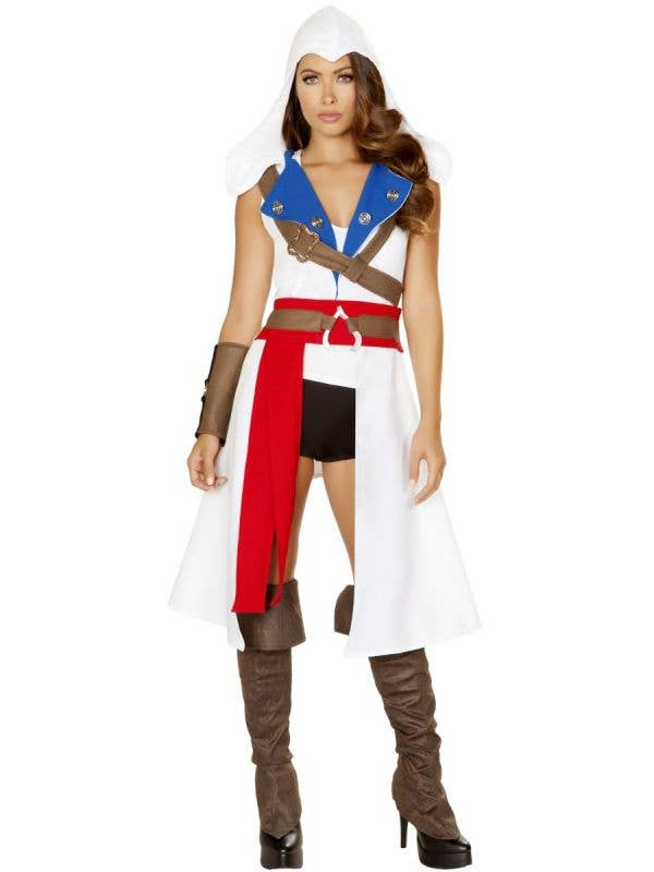 Roma The Assassins protector women's assassins creed gaming character fancy dress costume-front image