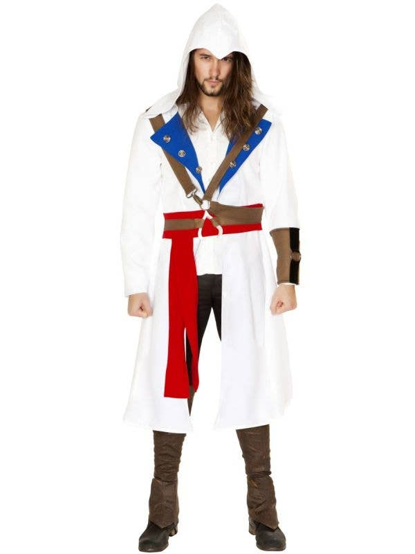 Men's Assassins Warrior Video Game Character Costume Main Image