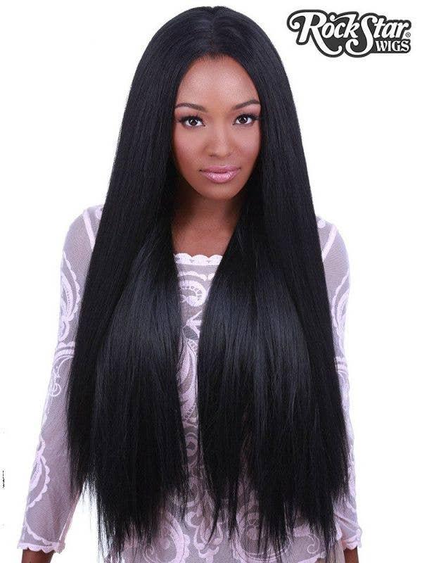 Women's Long Black Lace Front Heat Resistant Wig - Image 1