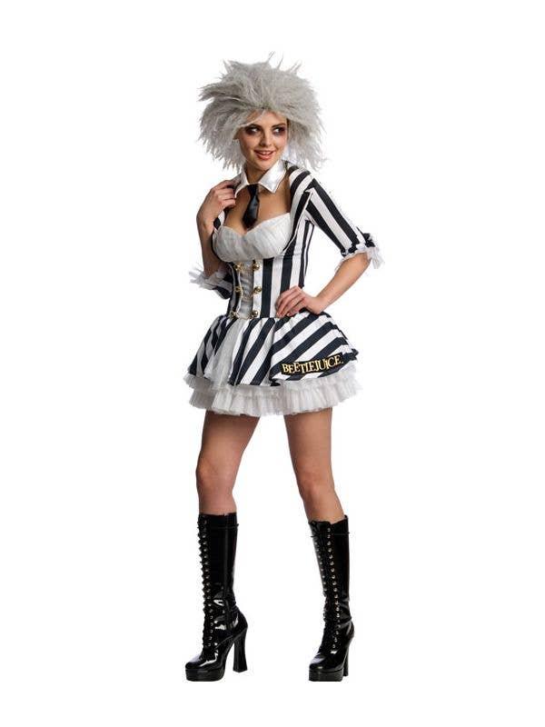 Miss Beetlejuice Sexy Women's Halloween Costume