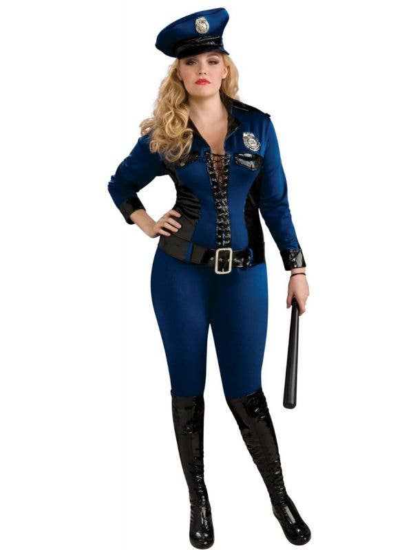 Women's Sexy Lady Justice Plus Size Police Officer Fancy Dress Costume